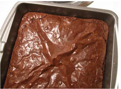 My best brownies, still in the pan