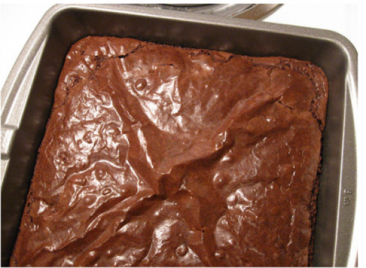 My best brownies, still in the pan