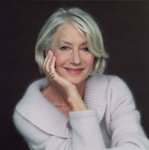 Helen Mirren keeps the style classic and soft. I think that is a great direction for many older women to consider in their hairstyles. I like how she keeps length, but  has control and a classic look.