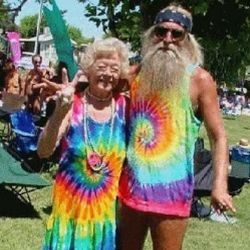 Couples can match their tie-dyes