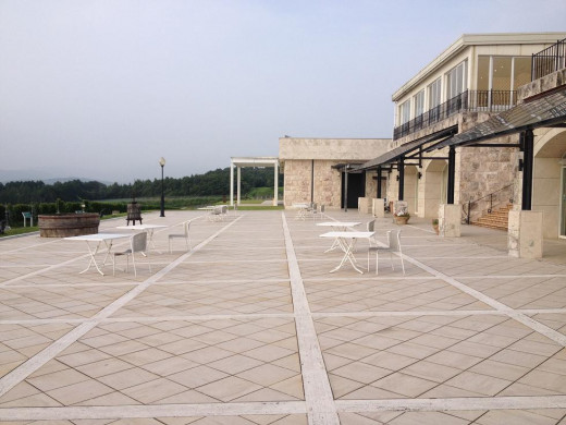 The side patio view of the Winery.