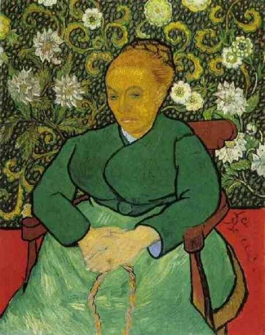 Portrait of Augustine Roulin (La Berceuse)