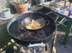Lunch on the barbecue
