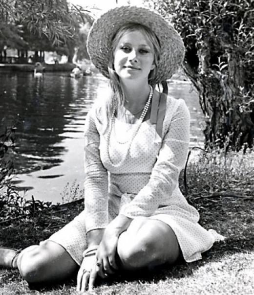 A youthful Helen Mirren
