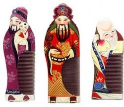 The Three Chinese Gods of Blessings, Prosperity, and Longevity