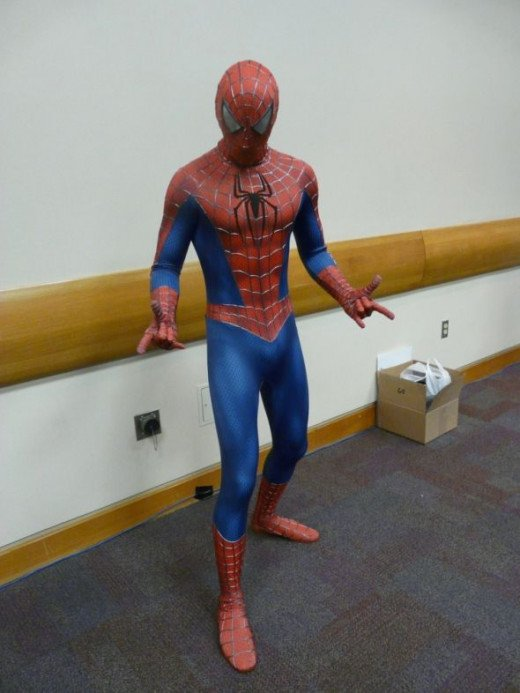 Cosplay spider man figure.