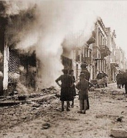 Aftermath of Fighting 1944
