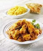 Indian curry chicken with rice