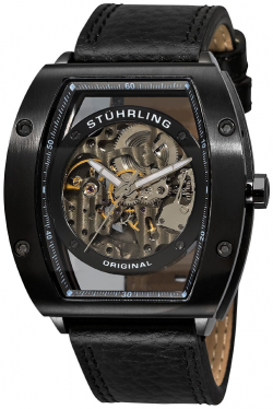 Stuhrling Men's Skeleton Watch