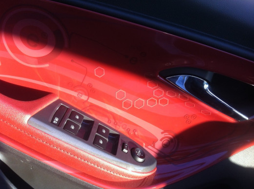 This is the special cayenne red inside panel. It is an upgrade. I like it but maybe it is too young for me?