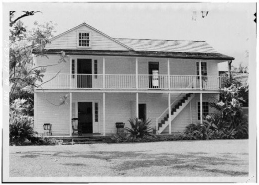 Waioli Mission House, Hanalei, Kauai, HI, ca 1933.    [Photo courtesy of the Library of Congress, American Historic Buildings collection, http://hdl.loc.gov/loc.pnp/hhh.hi0020]
