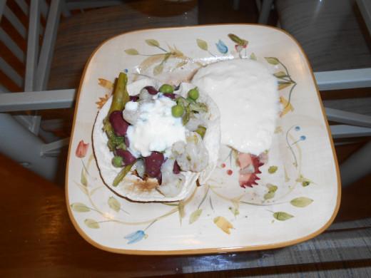 Top with plain, unsweetened yogurt.