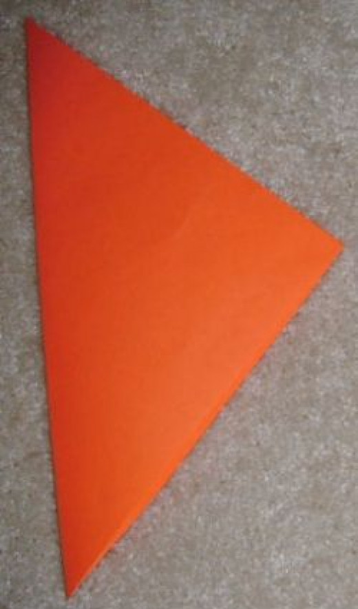 Fold it into a large triangle