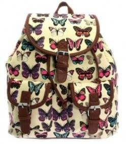 Cute Vintage Canvas Backpacks for School