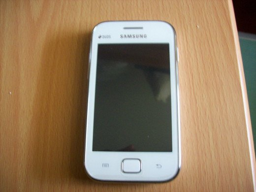 This is the front view of my Samsung Galaxy Ace Duos.