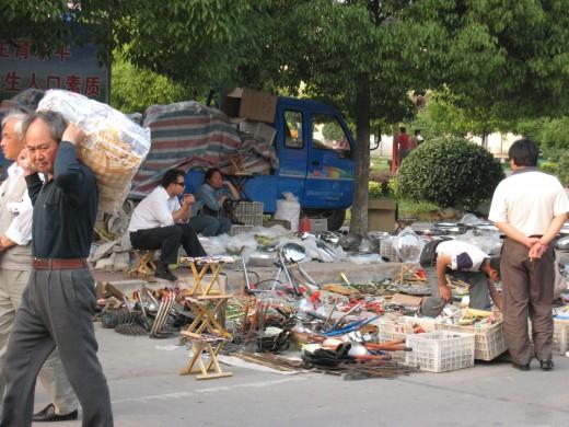A street market
