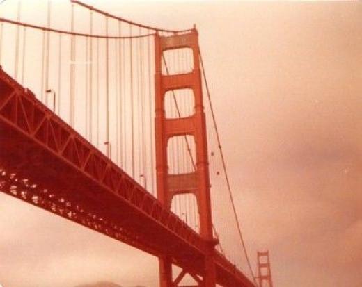 The Golden Gate Bridge, School Field Trip, 6h Grade.  Taken on a 110 Camera.