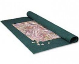 Rolling puzzle mat