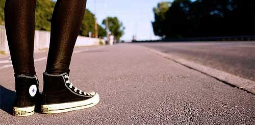 running in sneakers
