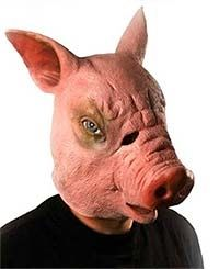 Scary Pig Head Latex Mask