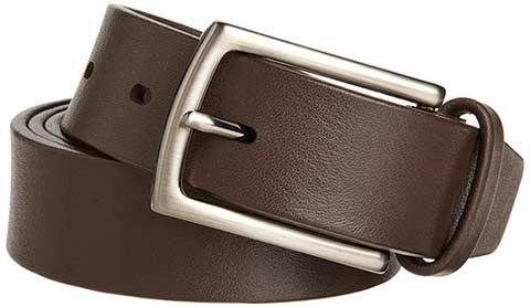 Mens leather dress belt