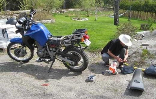 bike saddle change