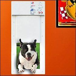 High Tech electronic dog door