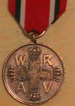 Pussian Red Cross Cross Medal 3rd class 1898-1917