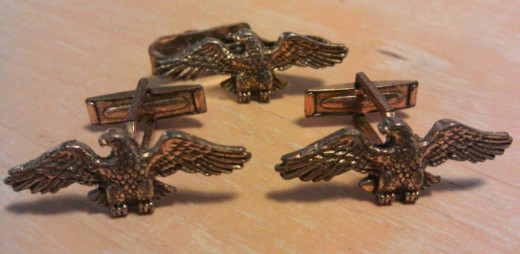 Vintaage Americana: 1950s Eagle cufflinks