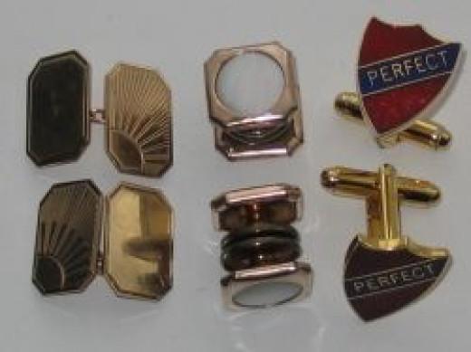 Various cufflinks