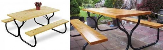 Picnic table metal frame