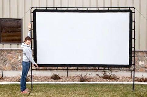 Huge projection screen