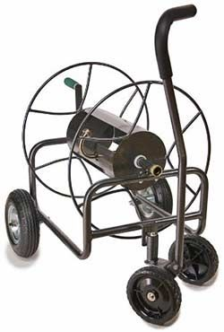 4 wheel reel cart with steering wheels