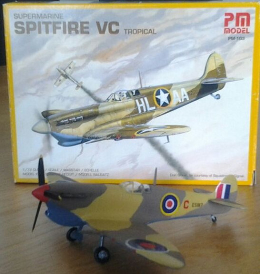 PM Models Mk Vc Spitfire Tropical