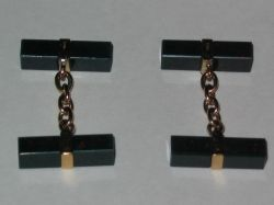 9ct gold and bloodstone cufflinks