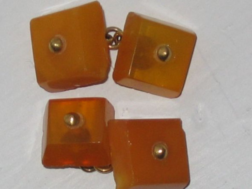 Amber and lucite