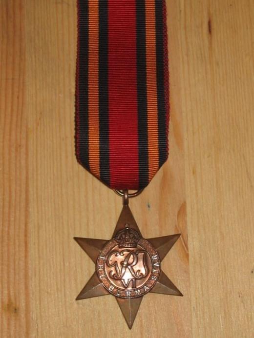 WWII Burma Star- UK