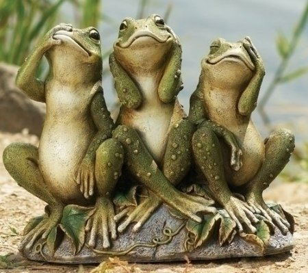 Funny garden frog decorations