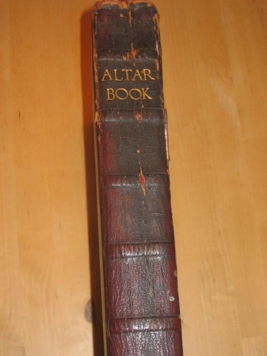 Altar Book - Spine