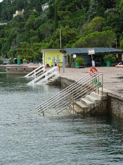 Swimming area near the castle