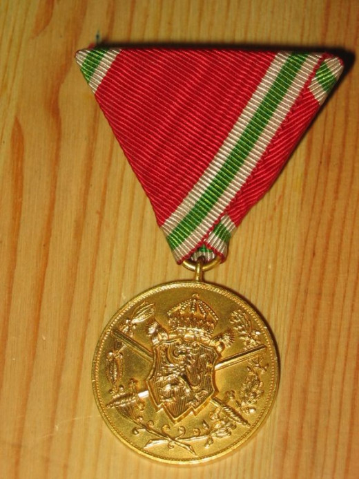 Bulgarian WWI Commemorative Medal - obverse