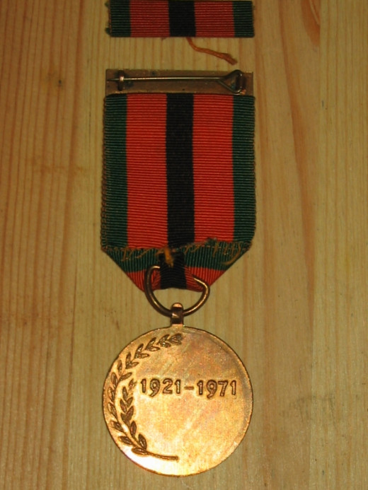 "Republic of Ireland 1921-1971 Survivor's Medal - ""The Truce Commemorative Medal 1971"" - reverse"