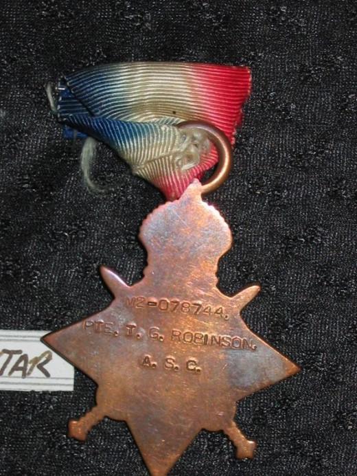 British 1914-15 Star - reverse