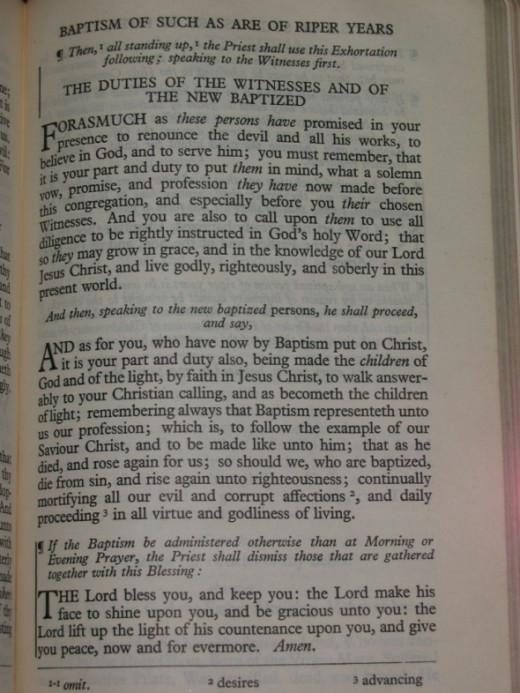 1928 BCP - Baptism