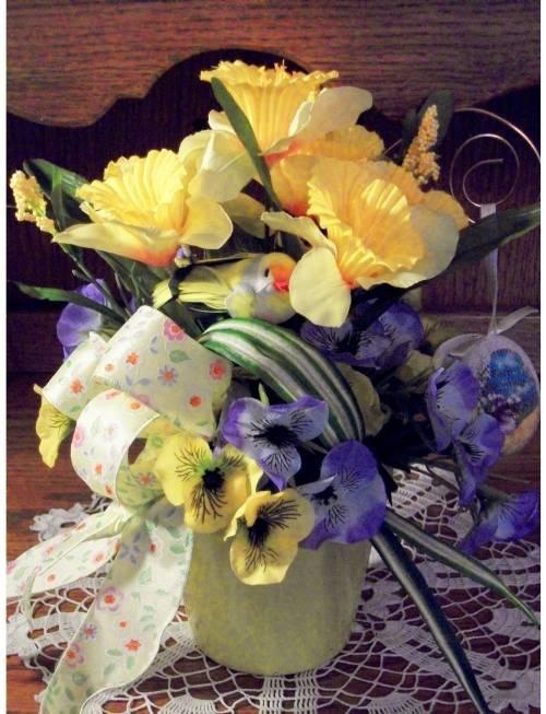 Yellow Easter Flower Pot Arrangement