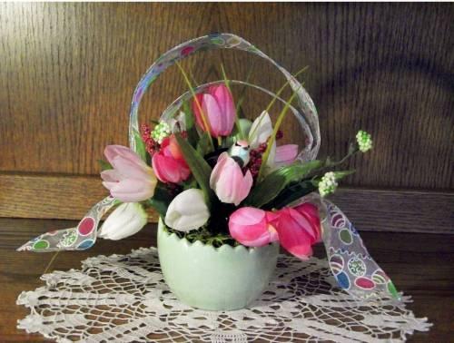 Green/Pink Spring/Easter Egg Arrangement