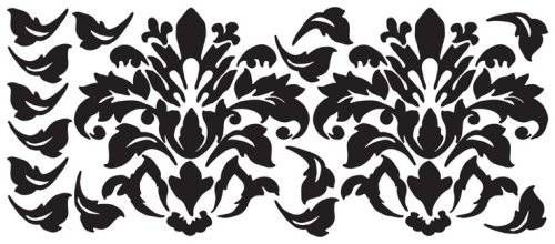 RoomMates Black Damask Peel & Stick Wall Decals