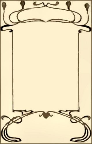 Elegant Art Nouveau Border To Print For Crafts And Cards