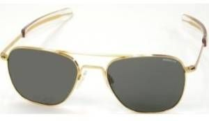 Randolph Aviator Sunglasses With Gold Frame