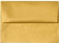 500 A7 Invitation Envelopes (5 1/4 x 7 1/4) - Gold Translucent